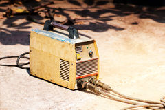 Welding machines controler,Industrial electricity inverters on o Royalty Free Stock Photo