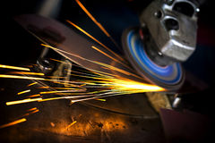 Welding Macro Detailed. Industry concept stock image