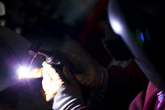 Welding Macro Detailed. Industry concept Stock Photography