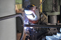 Welding man Royalty Free Stock Photos