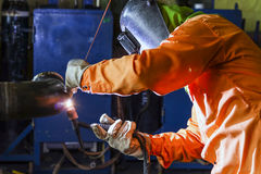 Welding man Royalty Free Stock Photo