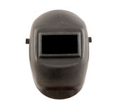 Welding mask with black safety glass Stock Images