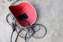 Welding mask on ground Royalty Free Stock Photography