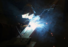 Welding of metal Stock Photography