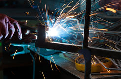 Welding metal Royalty Free Stock Images