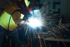 Welding metal Stock Image