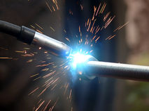 Welding  metal  smoke  sparks Stock Images