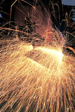Welding metal and sparks Royalty Free Stock Image