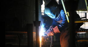 Welding with mig-mag method Royalty Free Stock Image