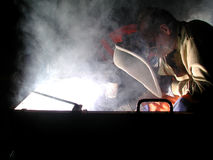 Welding by night stock photos