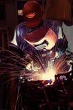 Welding operator Stock Images