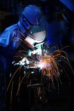 Welding operator Royalty Free Stock Image