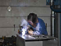 Welding operator Stock Images