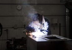 Welding operator Stock Photography