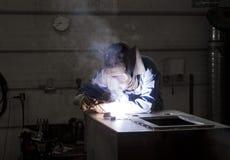 Welding operator stock photography
