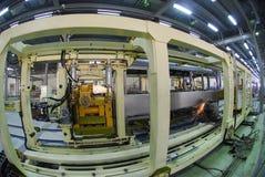 Welding operator 7. Welding operator is working on factory 7 Stock Images