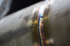 Welding pipe Stock Image