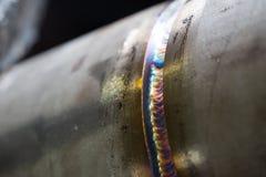 Welding pipe Stock Image
