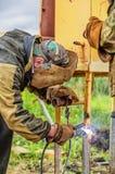Welding pipe Stock Photos