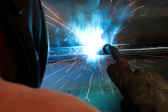Welding process in detail Royalty Free Stock Photography
