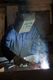 Welding process Royalty Free Stock Photos