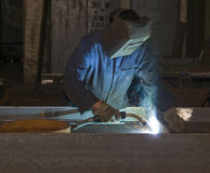 Welding in production department Royalty Free Stock Images