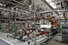 Welding production line workshop stock image