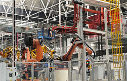 Welding production line workshop Stock Image