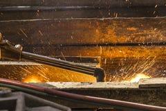 Welding rails Stock Image