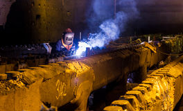 Welding repair and maintenance Stock Photography