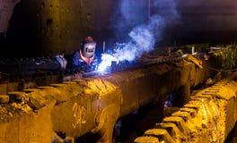 Welding repair and maintenance Stock Photography