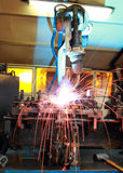 Welding Robot. Machine Automotive Industry Royalty Free Stock Photos