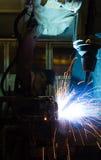 Welding Robot Machine. Automotive Industry Royalty Free Stock Photo