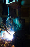 Welding Robot Machine. Automotive Industry Royalty Free Stock Images