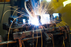 Welding Robot Machine Royalty Free Stock Images