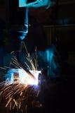 Welding Robot Machine Stock Photo