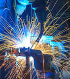welding Robots automotive parts Stock Photography