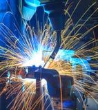 Welding Robots automotive parts Stock Photography