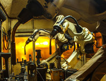 Welding robots Royalty Free Stock Image