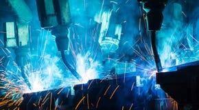 Welding robots Stock Image