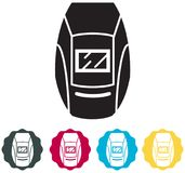 Welding Safety Helmet Icon. As EPS 10 File Royalty Free Stock Photo