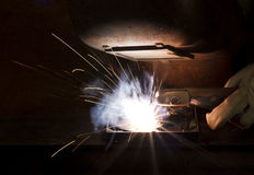 Welding scenery Royalty Free Stock Photos