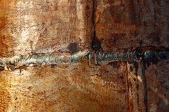 Welding seam. Abstract metal background stock images