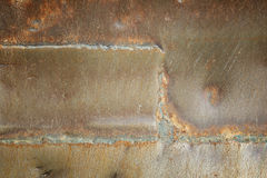 Welding seam old iron background Royalty Free Stock Photography