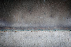 Welding seam old iron Royalty Free Stock Photography