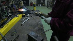Welding Skills Training stock video