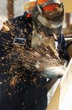 Welding spark. A picture of an arc welder at work Royalty Free Stock Photos