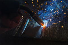 The welding spark light Royalty Free Stock Photos