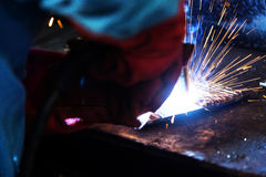 The welding spark light scene Royalty Free Stock Photos
