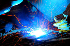 Welding sparks Royalty Free Stock Photography